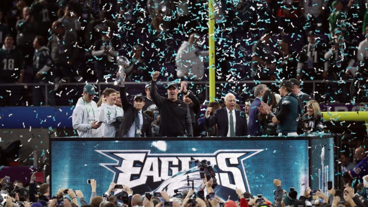 The Eagles get their revenge in the Super Bowl against the Patriots in Super Bowl 52.