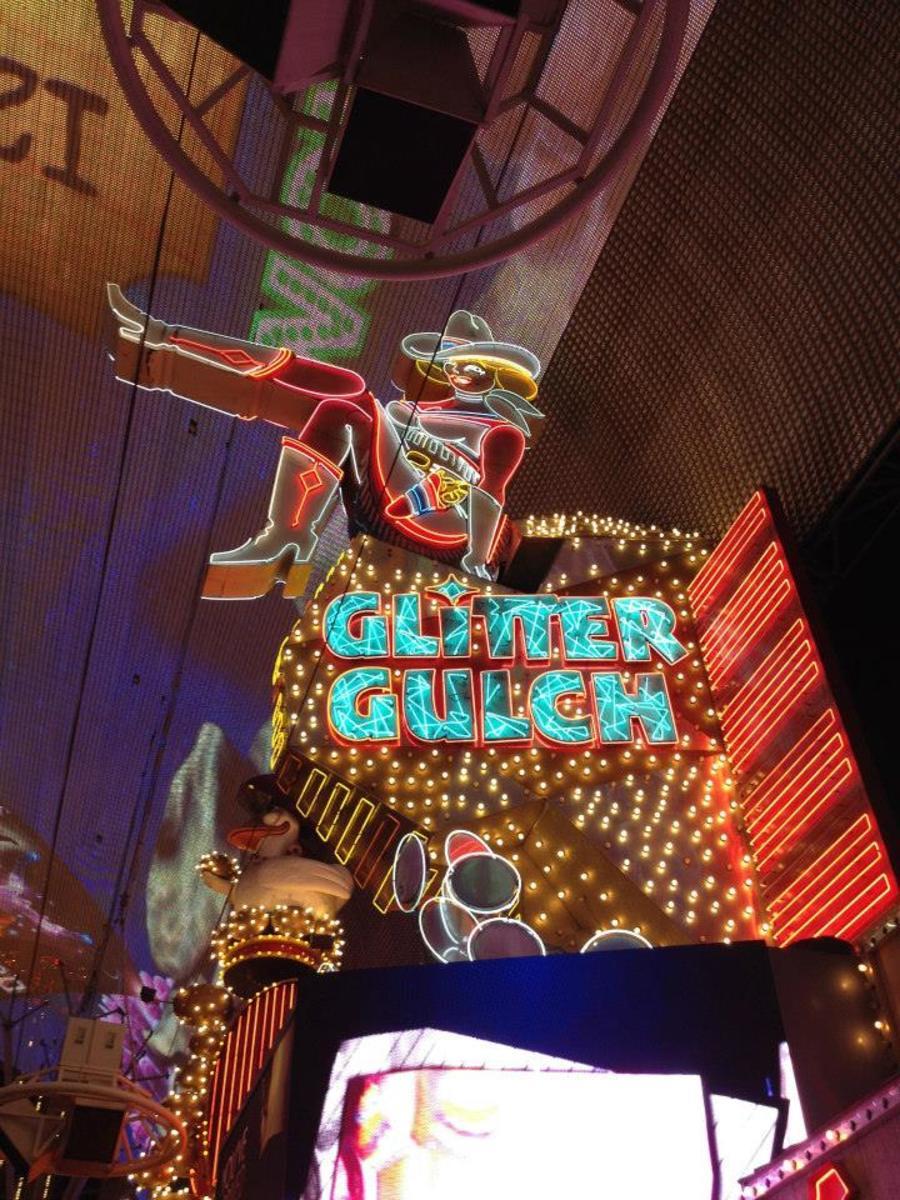 Lights of Freemont Street in Downtown Las Vegas