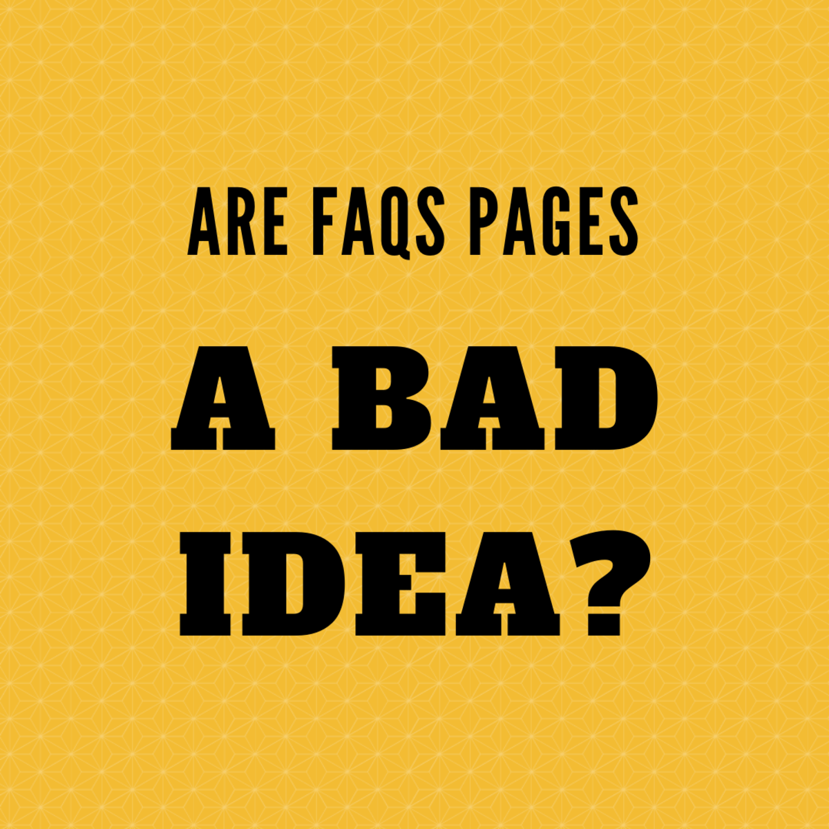 More and more content strategists are recommending against FAQs pages.