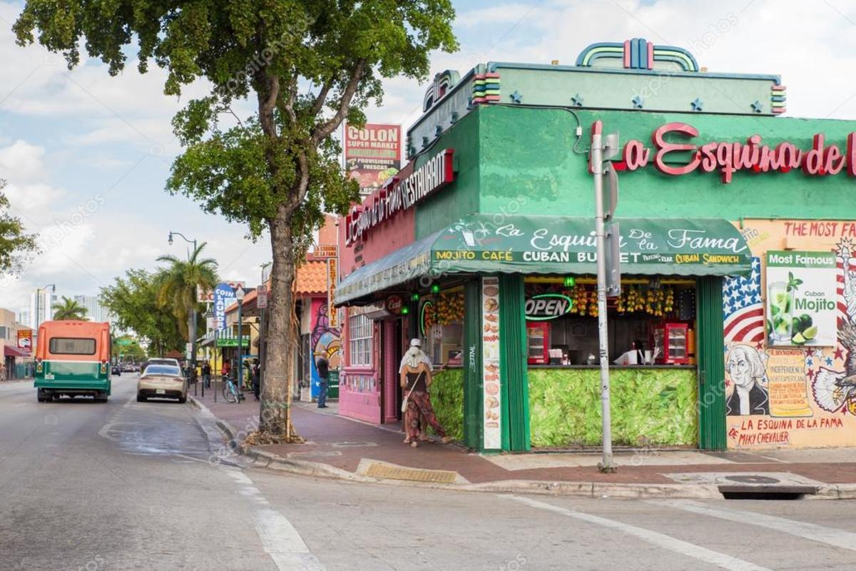 The neighborhood of Little Havana in Miami.