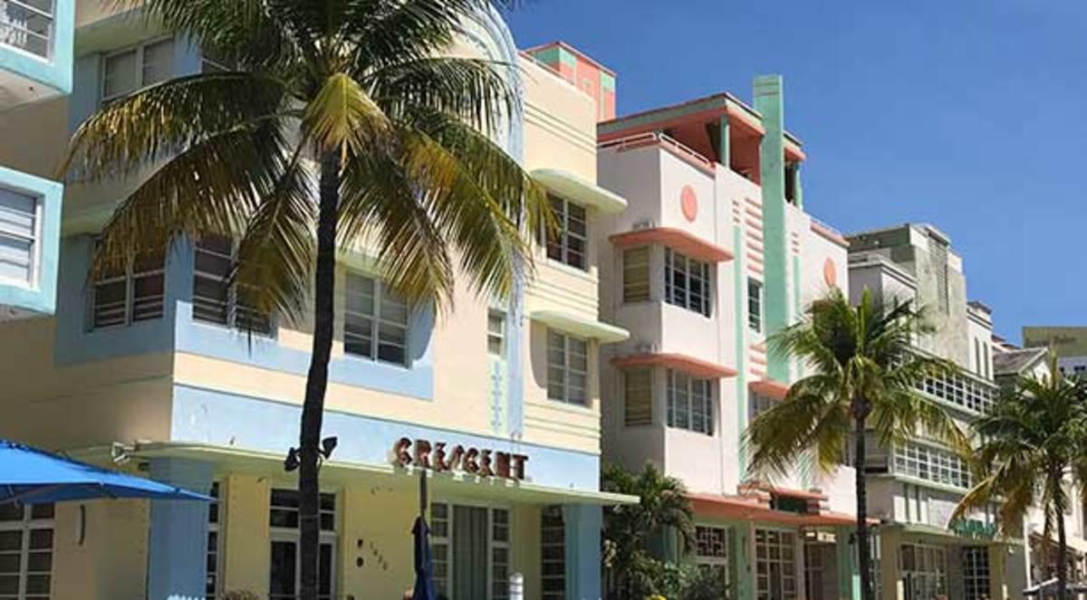 Art Deco Historic District on Miami Beach.