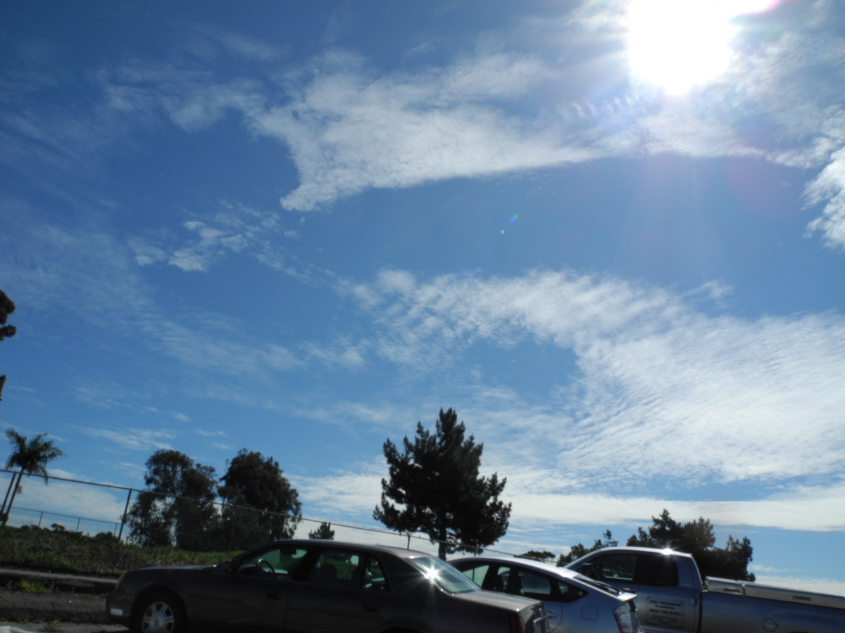 In the parking lot of the Balboa Golf Course.  Notice the clouds with the Baking Soda Consistency, exactly like Las Vegas where I filmed the Chemtrail progress.