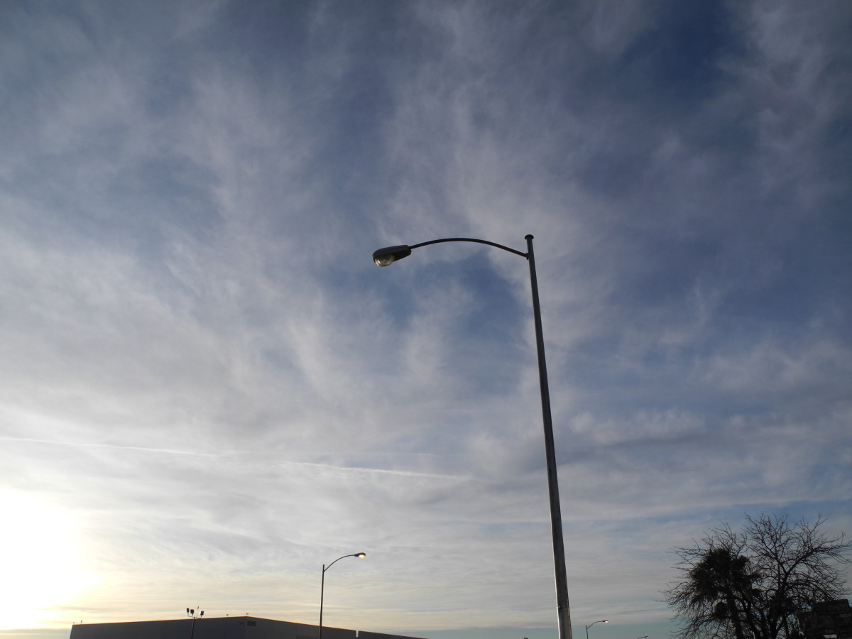 """As the wind whips the clouds around, you can see different striations, different forms that the """"Clouds"""" are taking."""