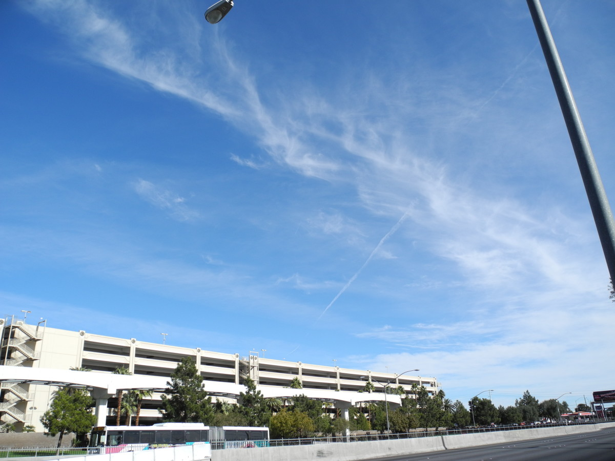 "Chemtrail Clouds caught with the wind and transported into another area of the sky.  Still retain the same ""Baking Soda Consistency"" that you see in the other pics, but this has moved, carried by the wind."