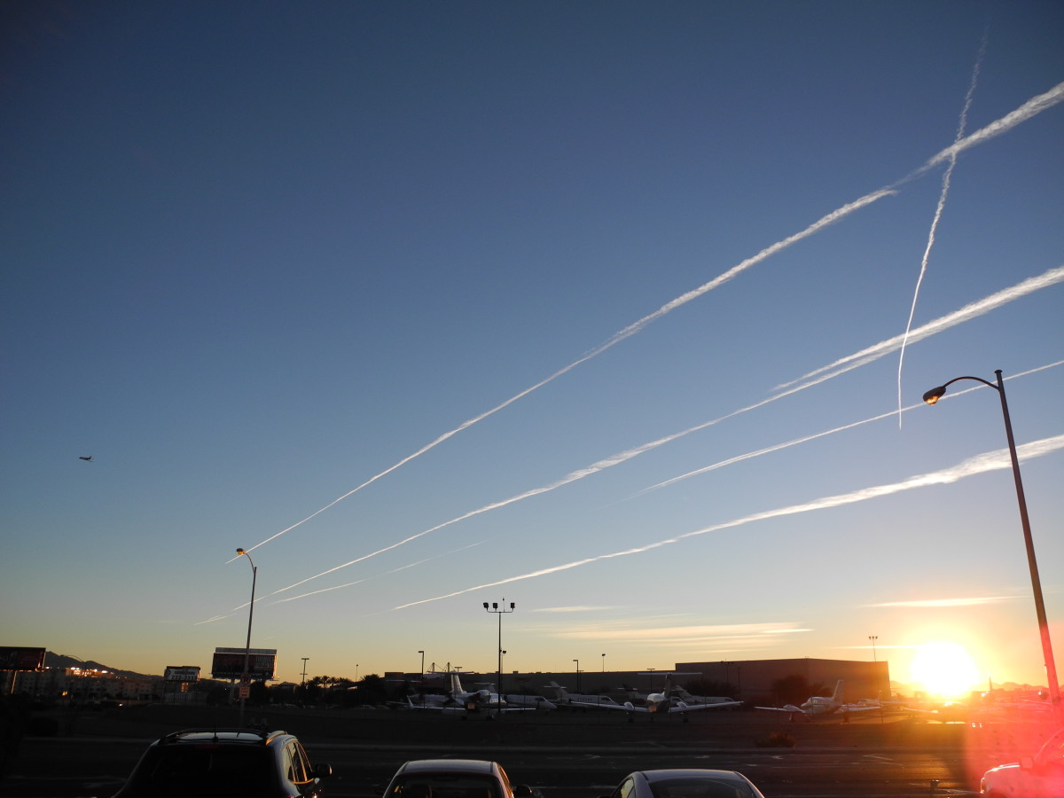 Contrail VS Chemtrail:  The Stage by Stage Development of a Chemtrail Cloud