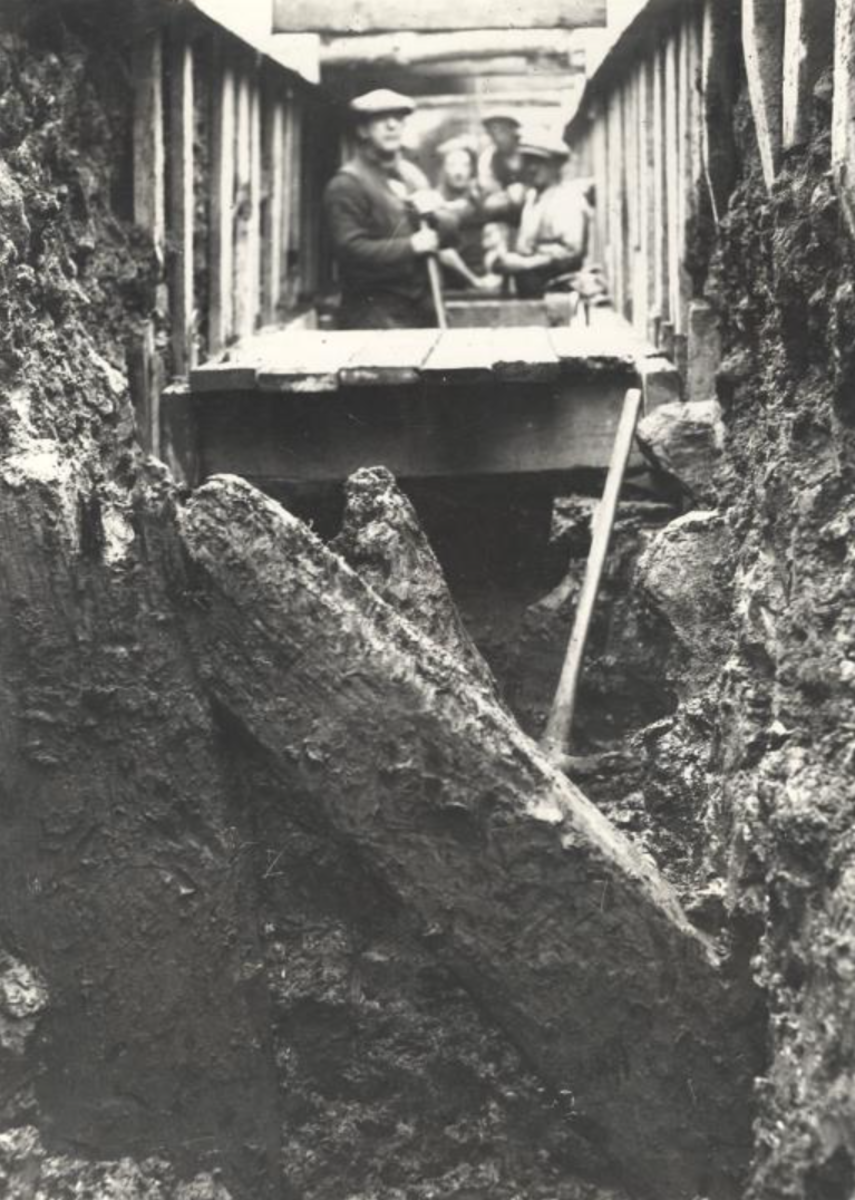 Excavation of the New Castle, Newcastle-under-Lyme