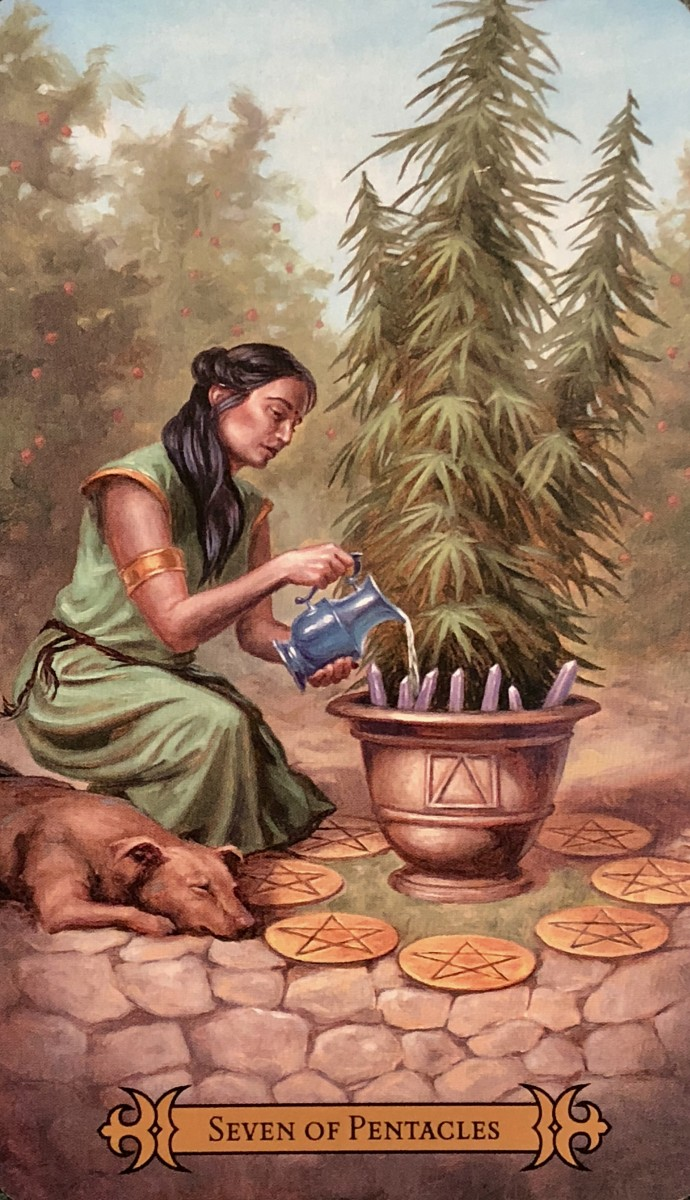 A young maiden has put in the hard work to maintain a garden. She is ready for a break. She must schedule a Sabbath in order to stay healthy. The soul and soil need a day off.