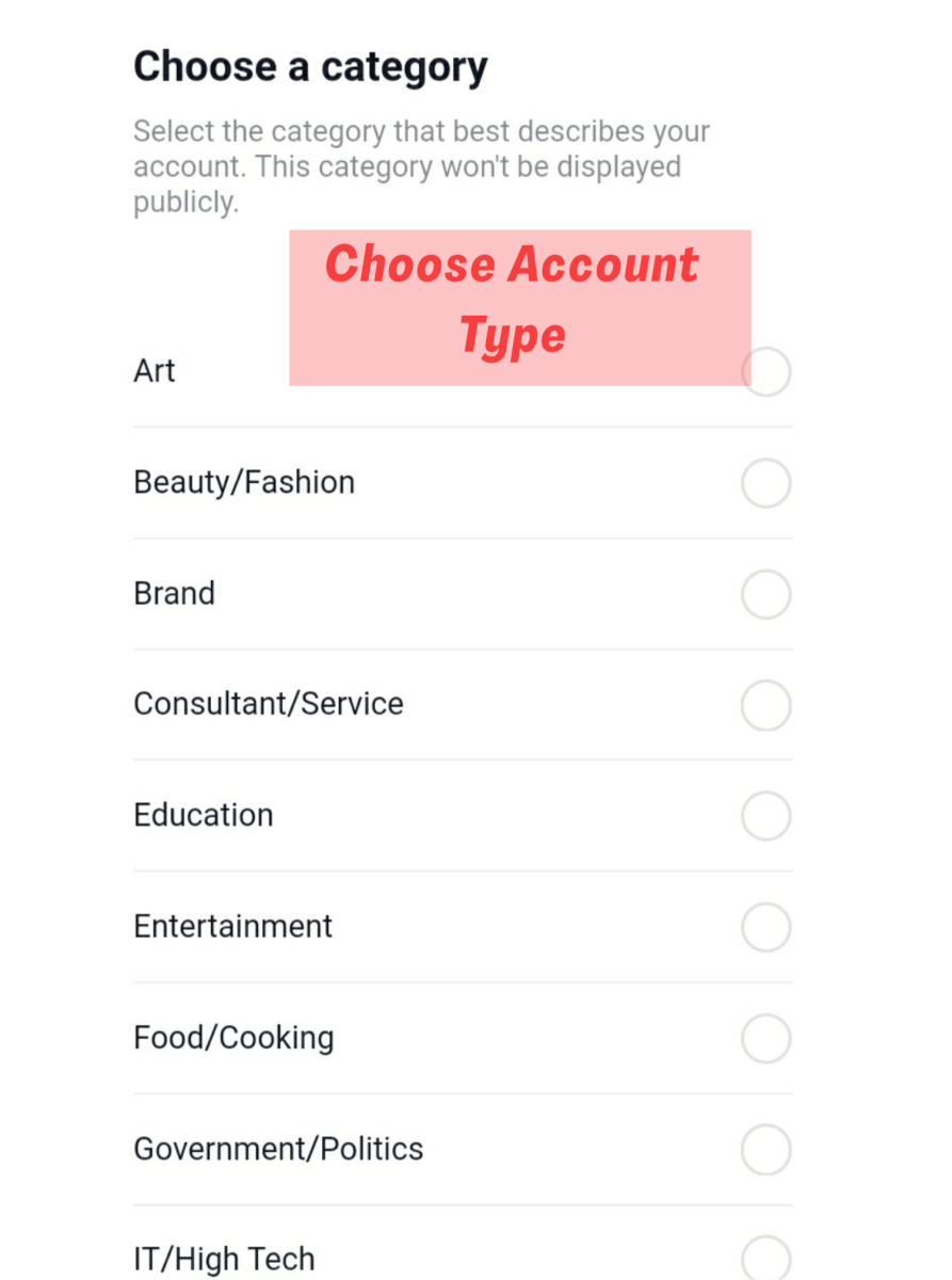Choose the relevent option from the menu.