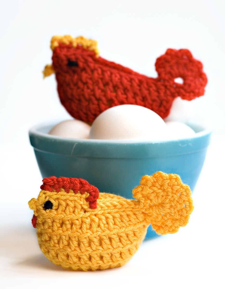 DESCRIPTIONCrocheted chicken cozies sitting on eggs© Dkapp12 | Stock Free Images & Dreamstime Stock Photos