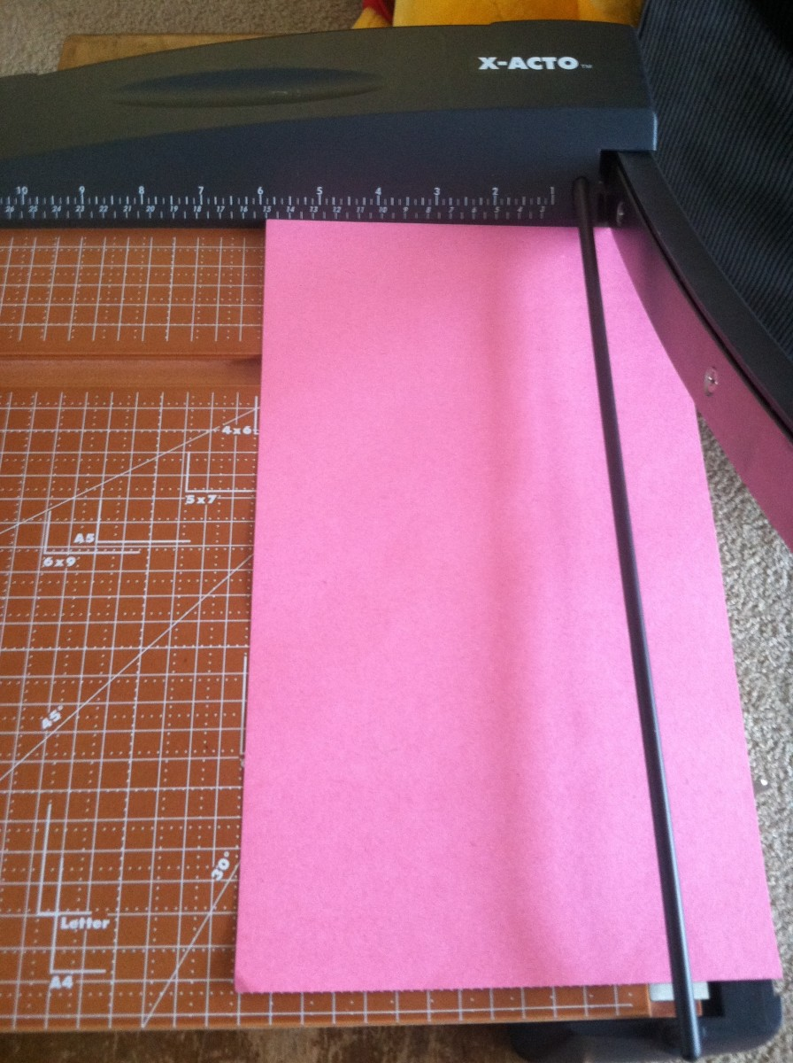 A paper cutter makes creating the strips fast and easy