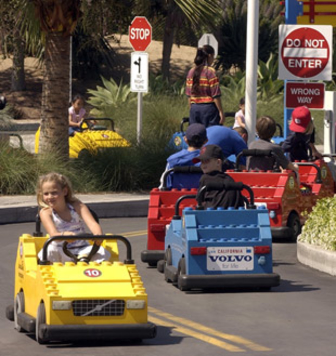 "Riding ""LEGO"" cars at LEGOLAND"