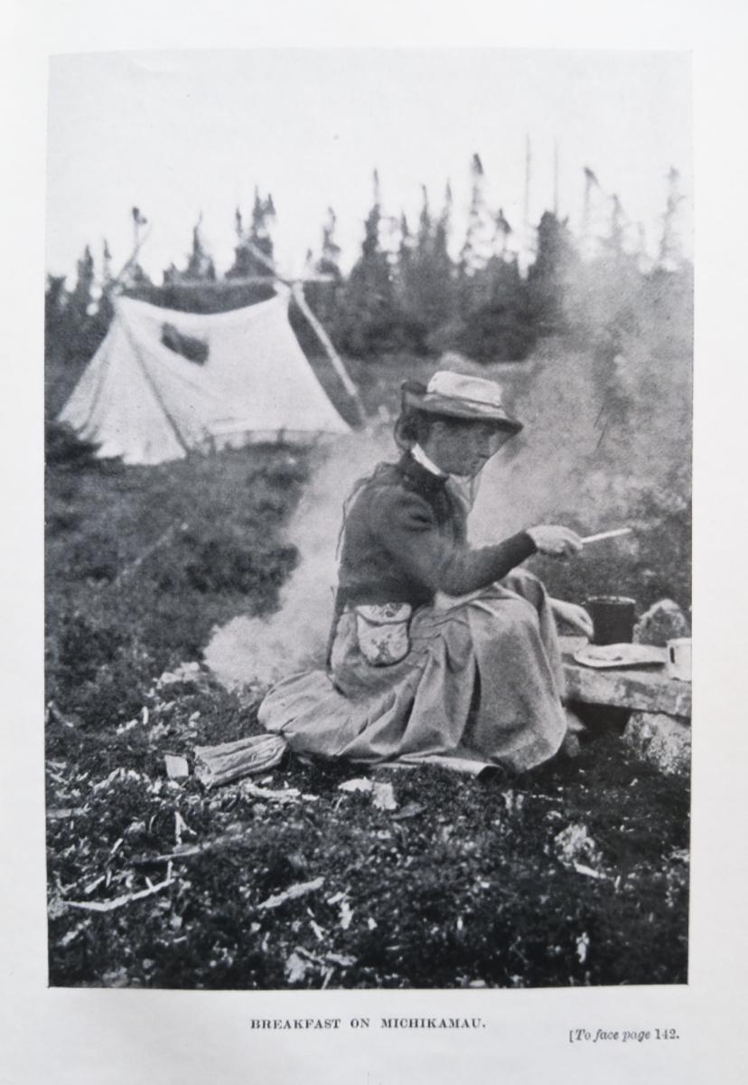 Mina Cooking at Campfire