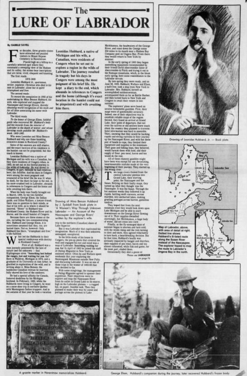 Newspaper Headlines Explorers of Labrador