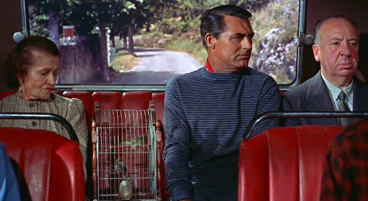 Hitchcock's cameo in To Catch a Thief (1955)