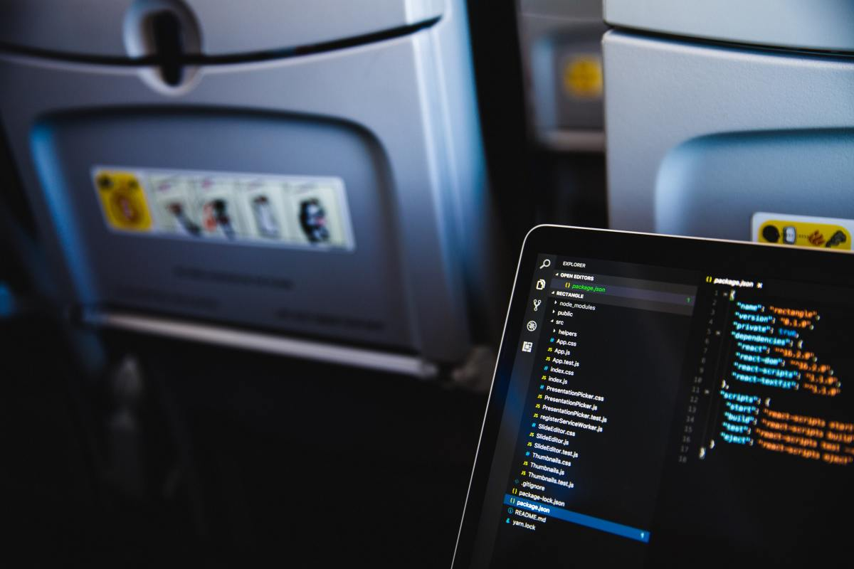 Using your laptop on your plane journey
