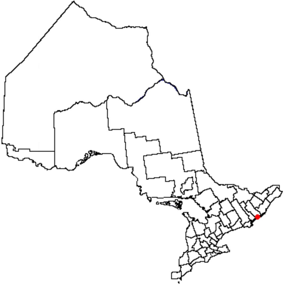 Map location of Kingston, Ontario