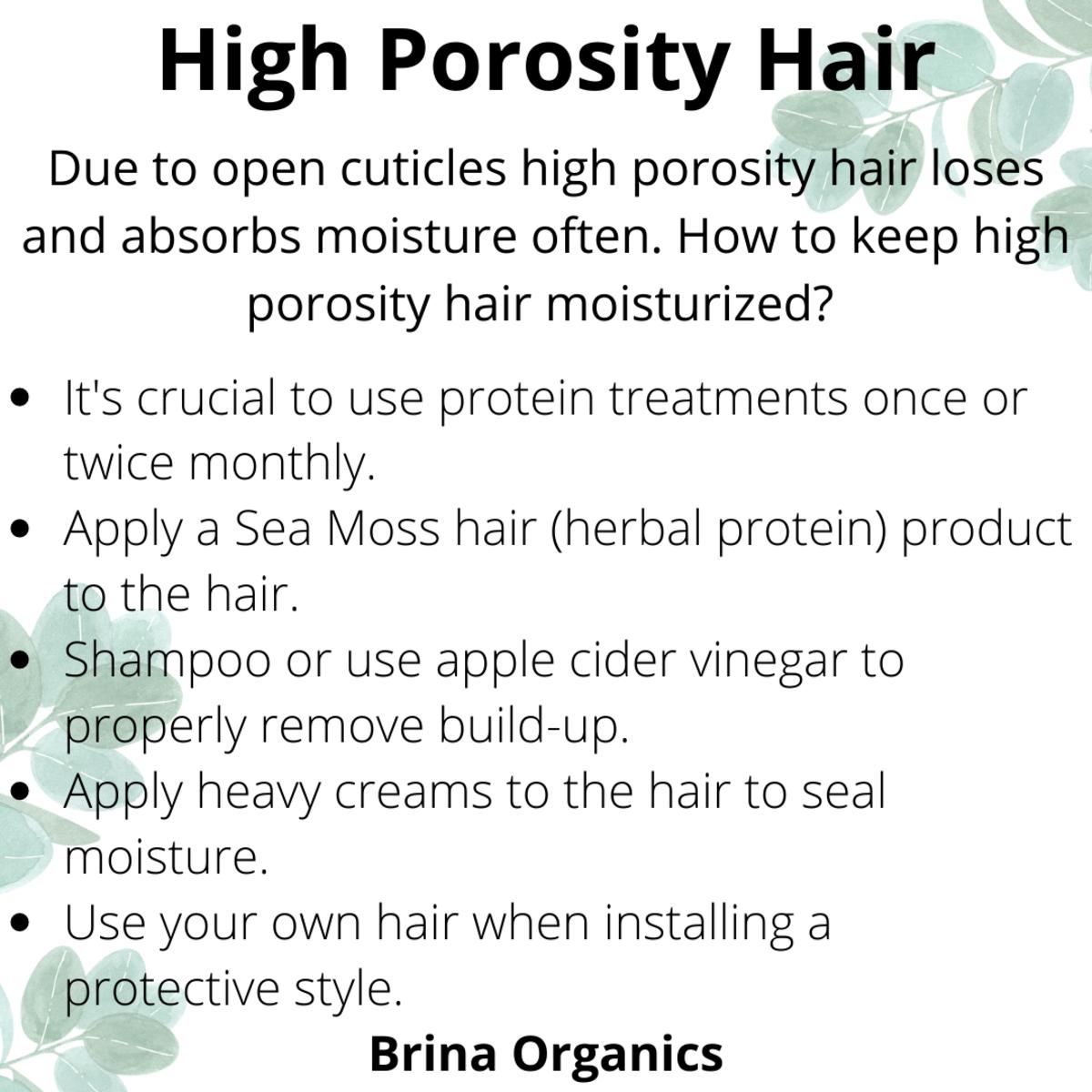 High Porosity Hair Tips