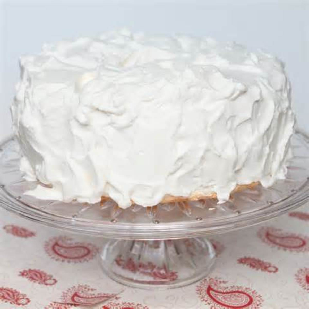 Cake with Whipped Cream Icing