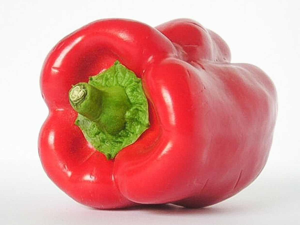 A red bell pepper