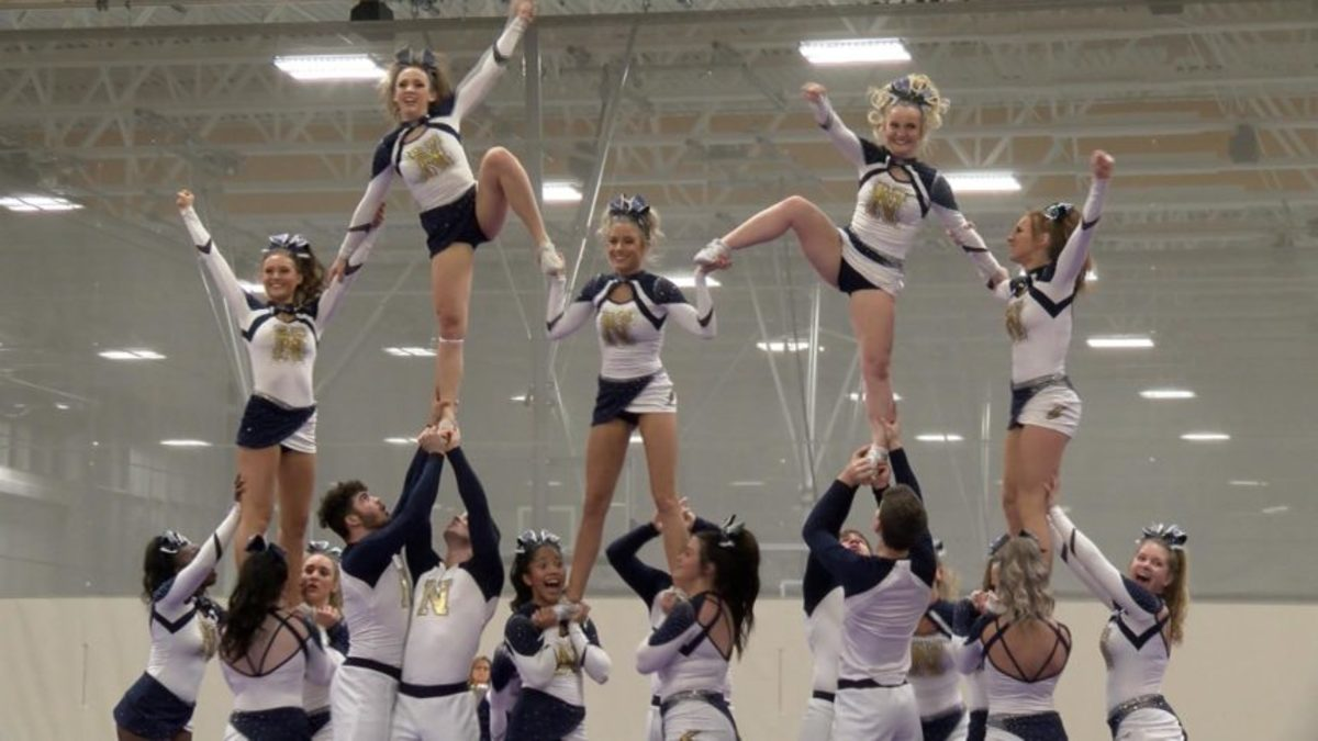 """This complex move by cheerleaders is called the """"pyramid."""""""