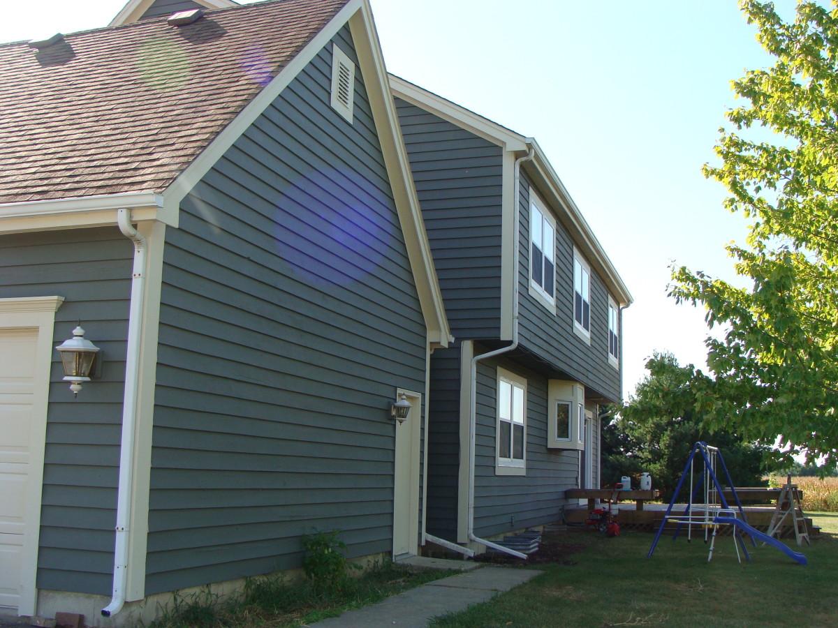 A cedar home after spraying.