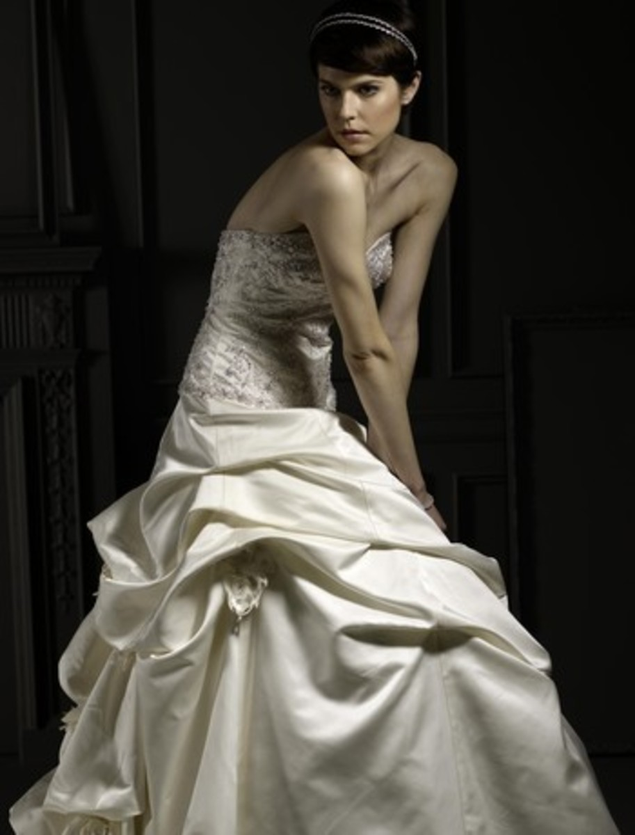 Silk Bridal Gown