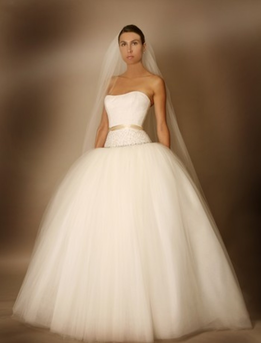 Crepe and Tulle Bridal Gown