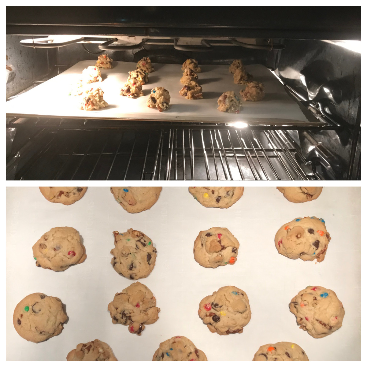 Kitchen Sink Cookies made with chocolates and pretzels.