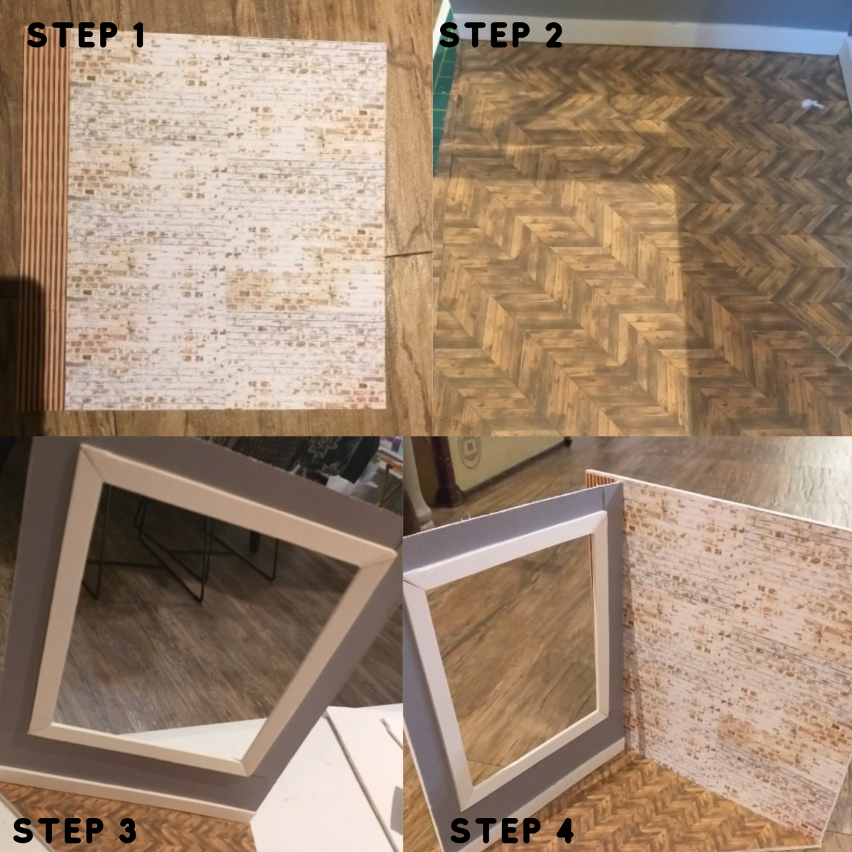 Steps 1 through 4.