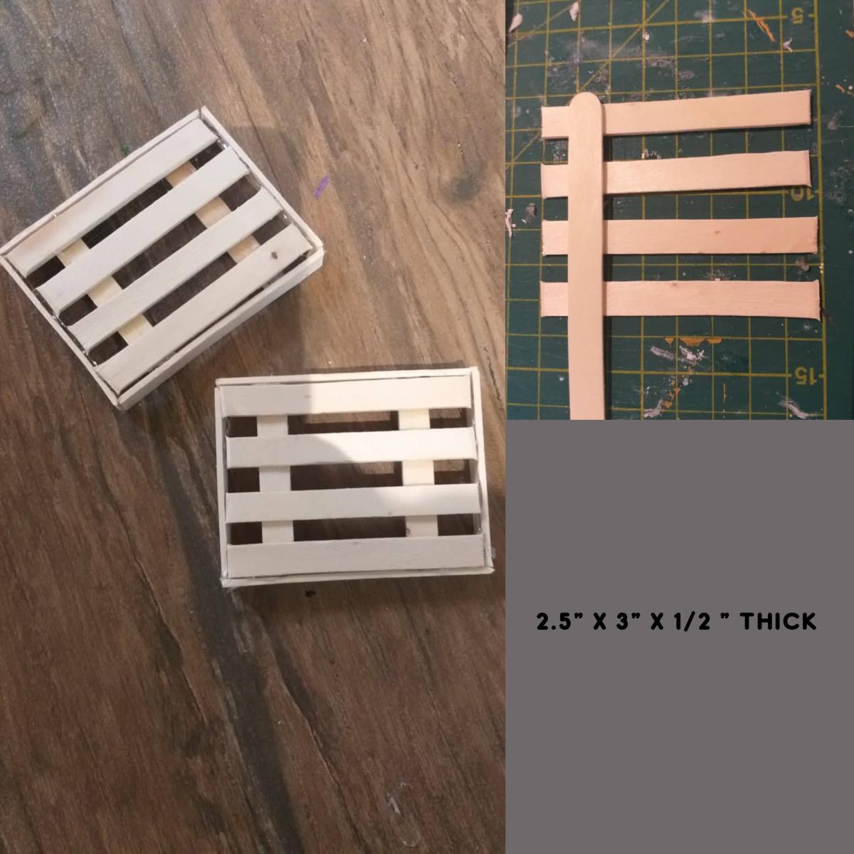 Mini crates.