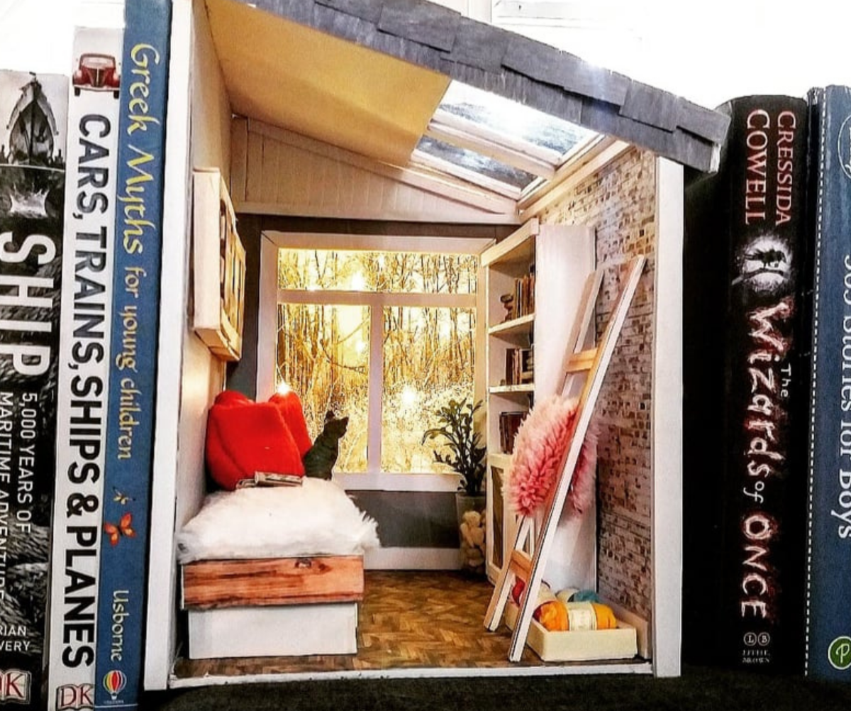 DIY Tiny House With a Forest View Book Nook (with Patterns and Printables)