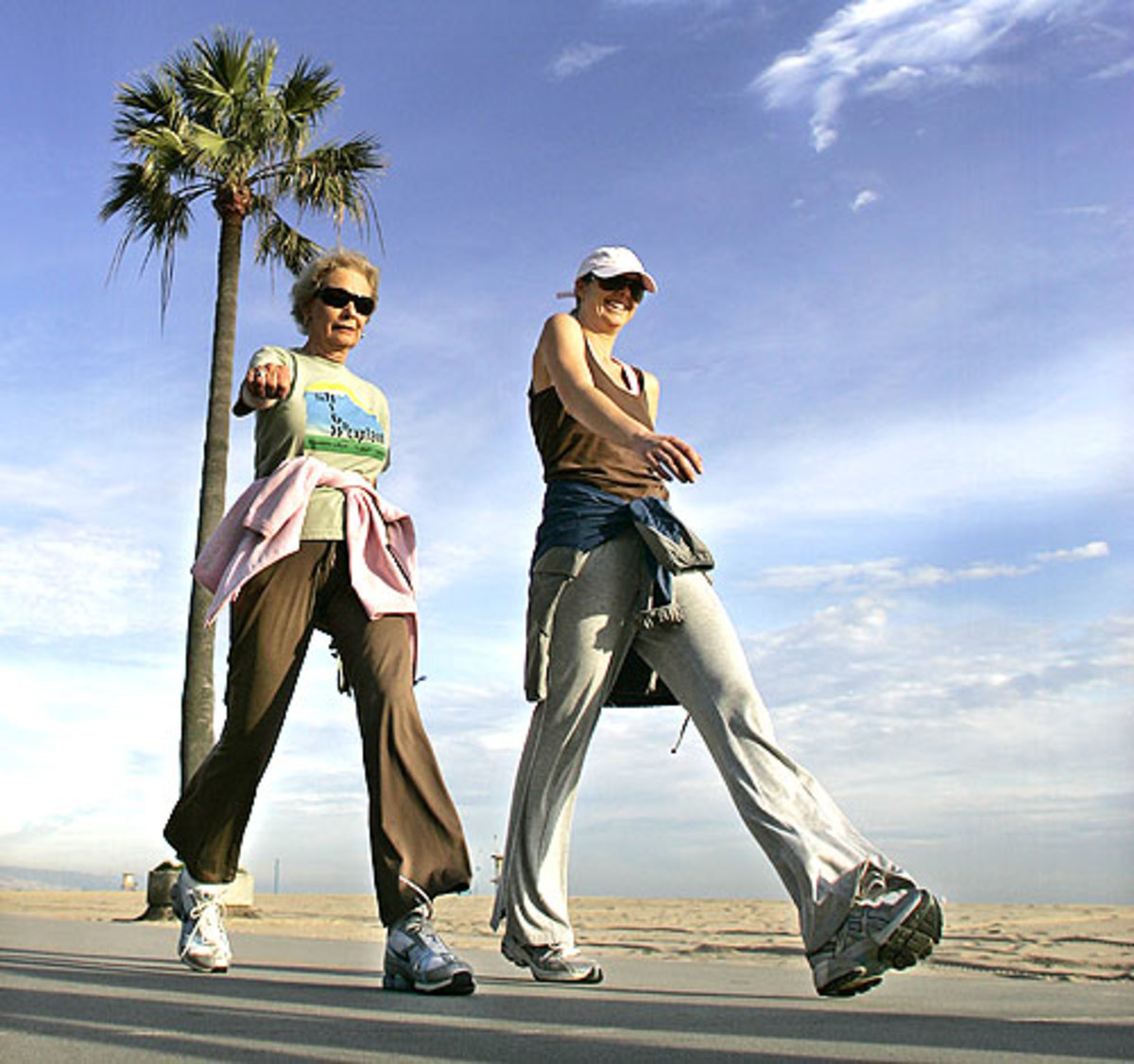Walking exercise is more fun with a friend