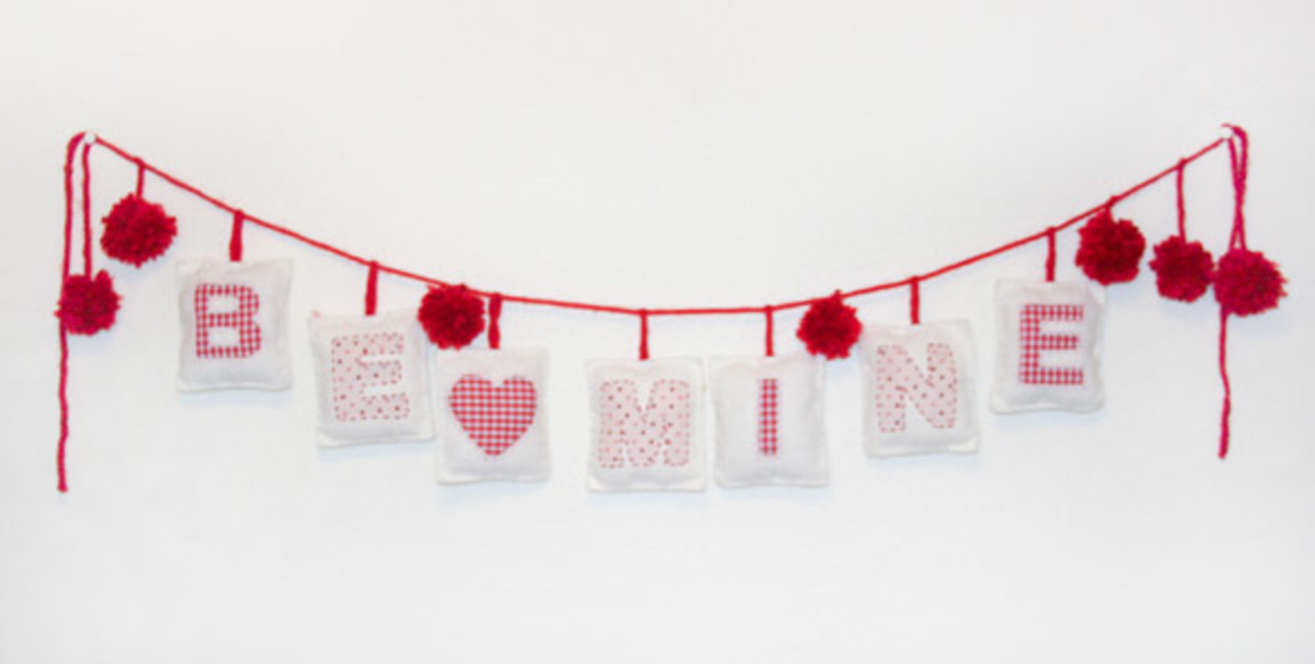 Valentine Pillow Bunting