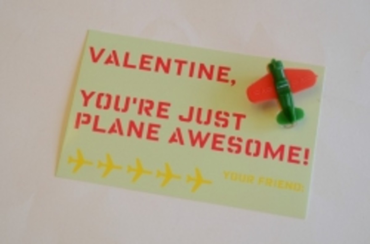 airplane valentine craft