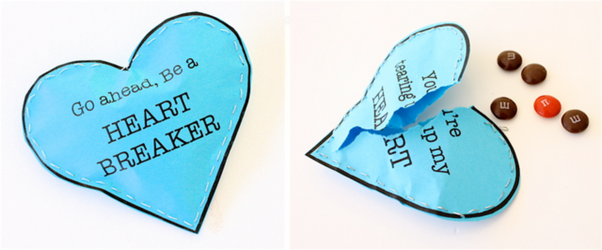 heart breaker valentine craft
