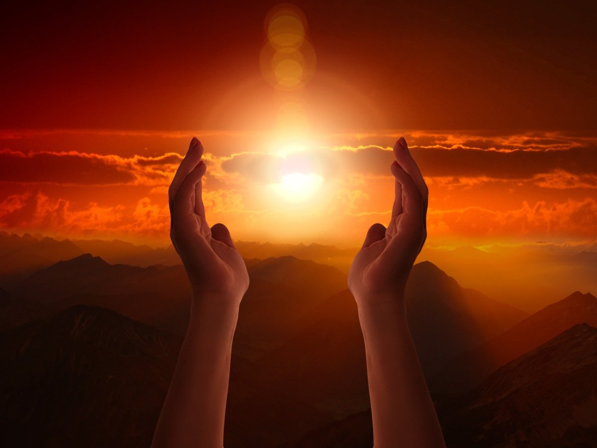 One Day When You Can Put Sun Between Palms of Your Hands, You'll Be One with God. -- Val Karas