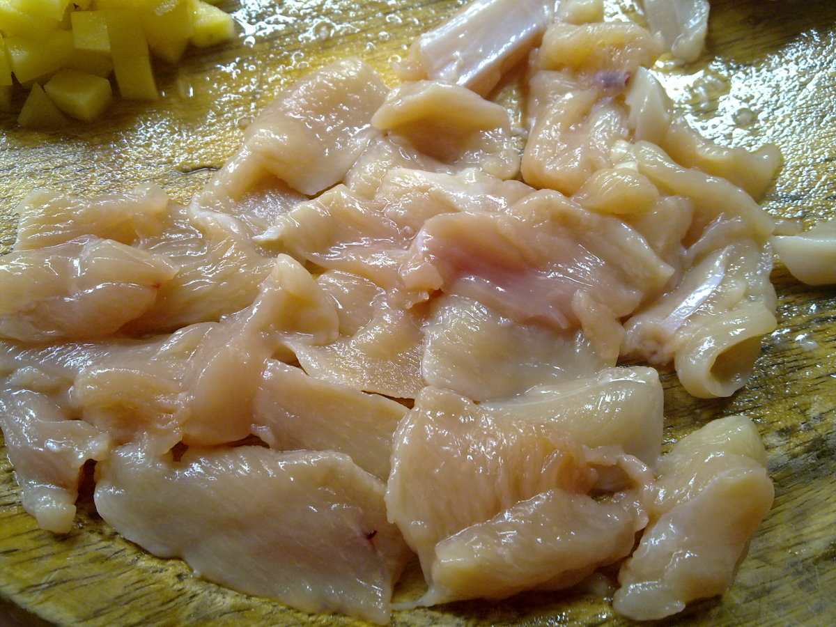 sliced chicken keel