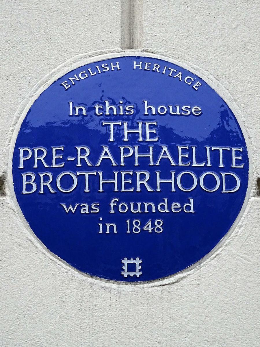 The Pre-Raphaelite Brotherhood Marker at Gower Street Home of John Everett Millais circa 1848