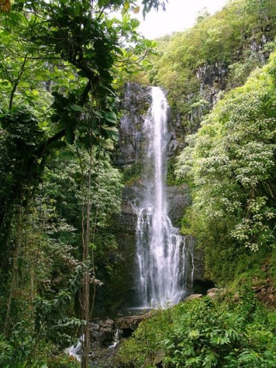 Travel to Hawaii, the Islands of Oahu and Maui for Beach, Surf and Waterfalls