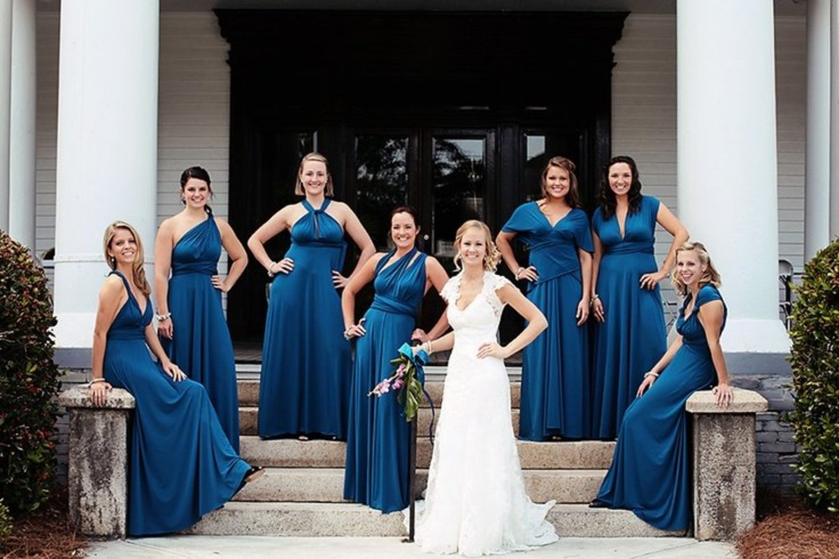 Transformer dresses are the perfect bridesmaids gift that will make the girls look similar and different at the same time.