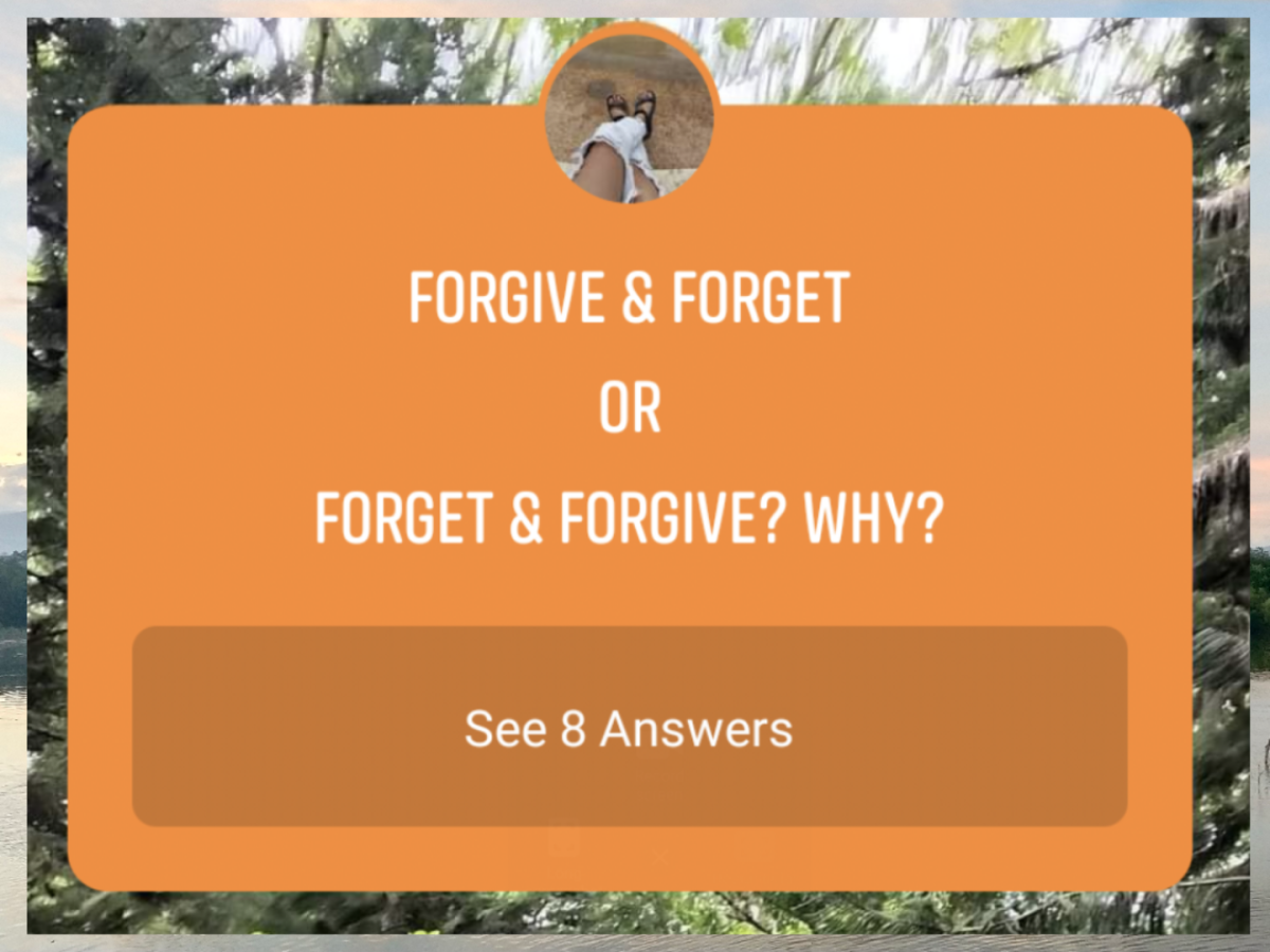 Forgive or Forget: Which Comes First?