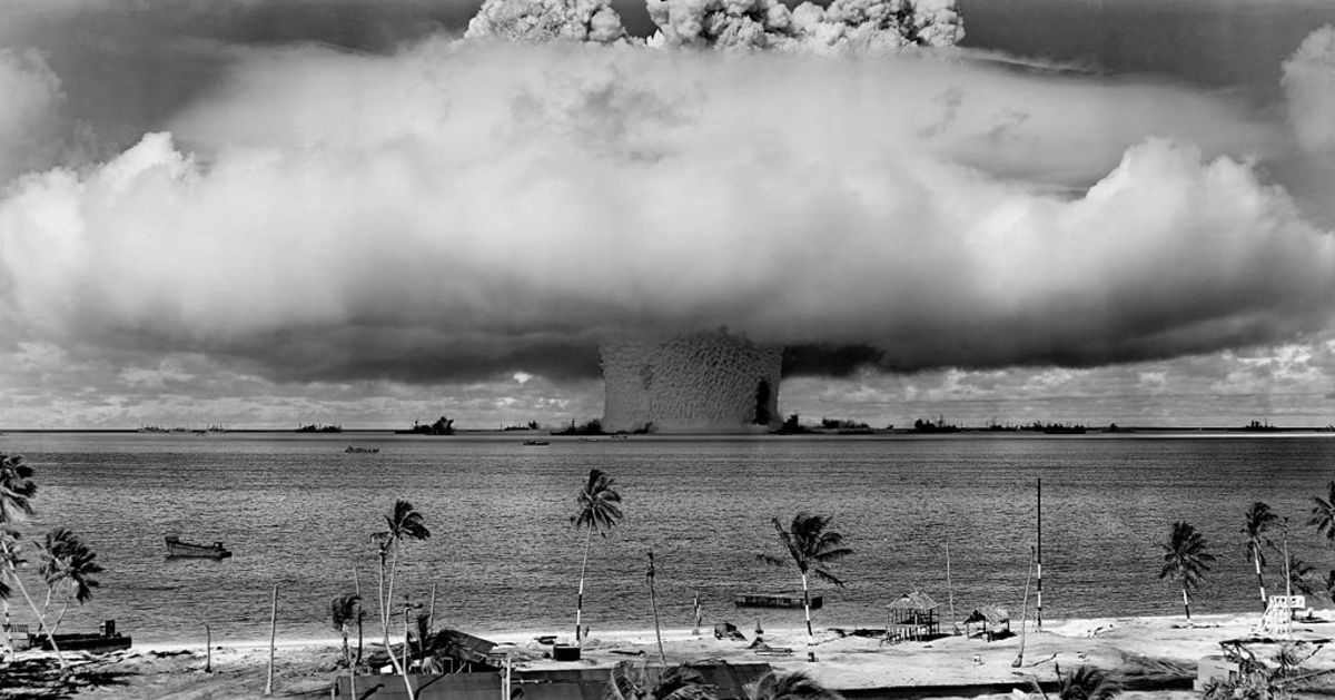 1946 nuclear test; guess it worked.
