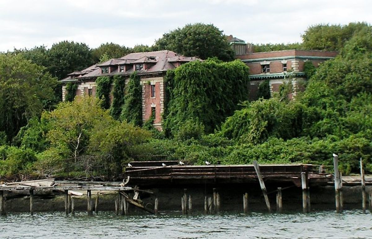 Nature is reclaiming the Riverside Hospital.