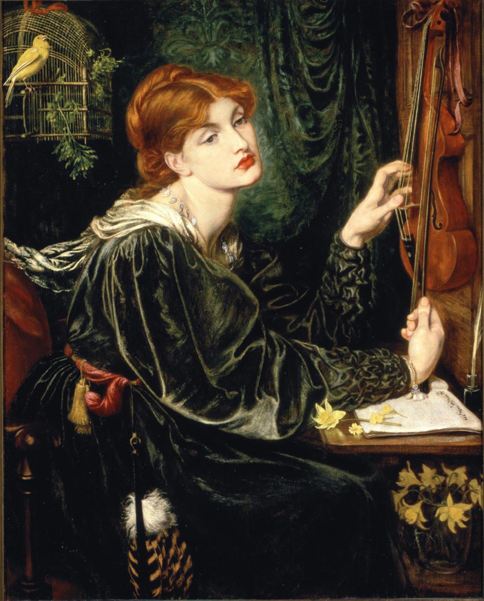 Alexa Wilding as Veronica Veronese by the Pre-Raphaelite artist Dante Gabriel Rossetti 1872