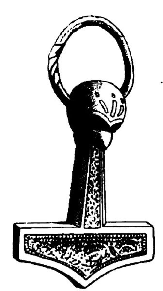 Sketch of a Hammer found in the 19th Century in Denmark. Thought to date from the early 11th Century.