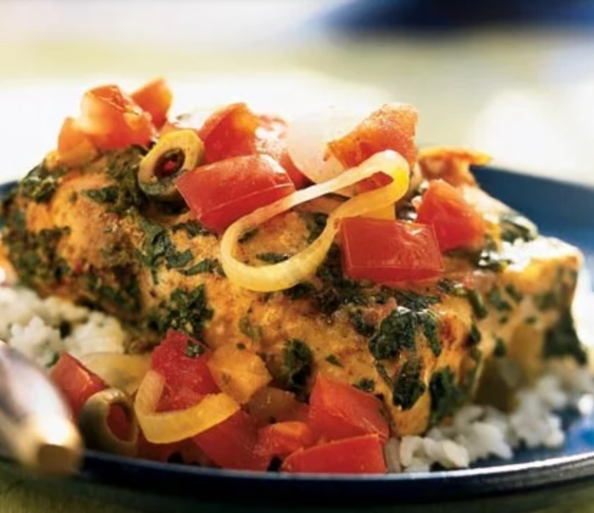 Fish tagine with preserved lemon and tomatoes