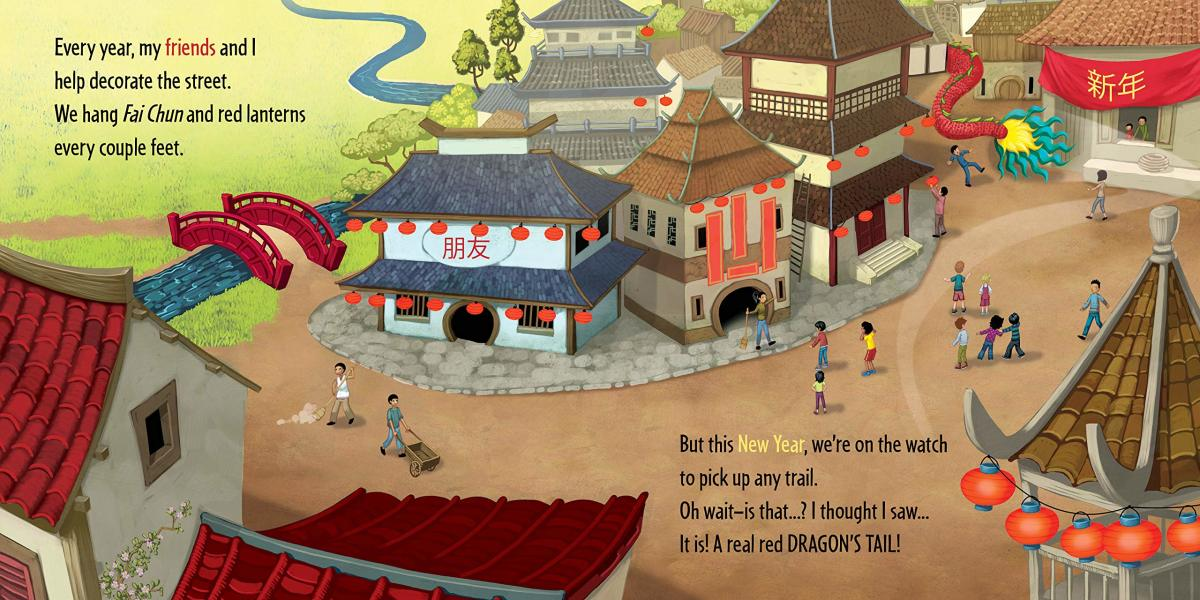 The action of the book begins in this 2-page spread.