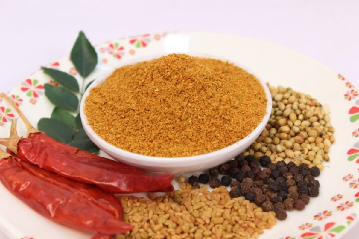 Traditional sambar masala powder