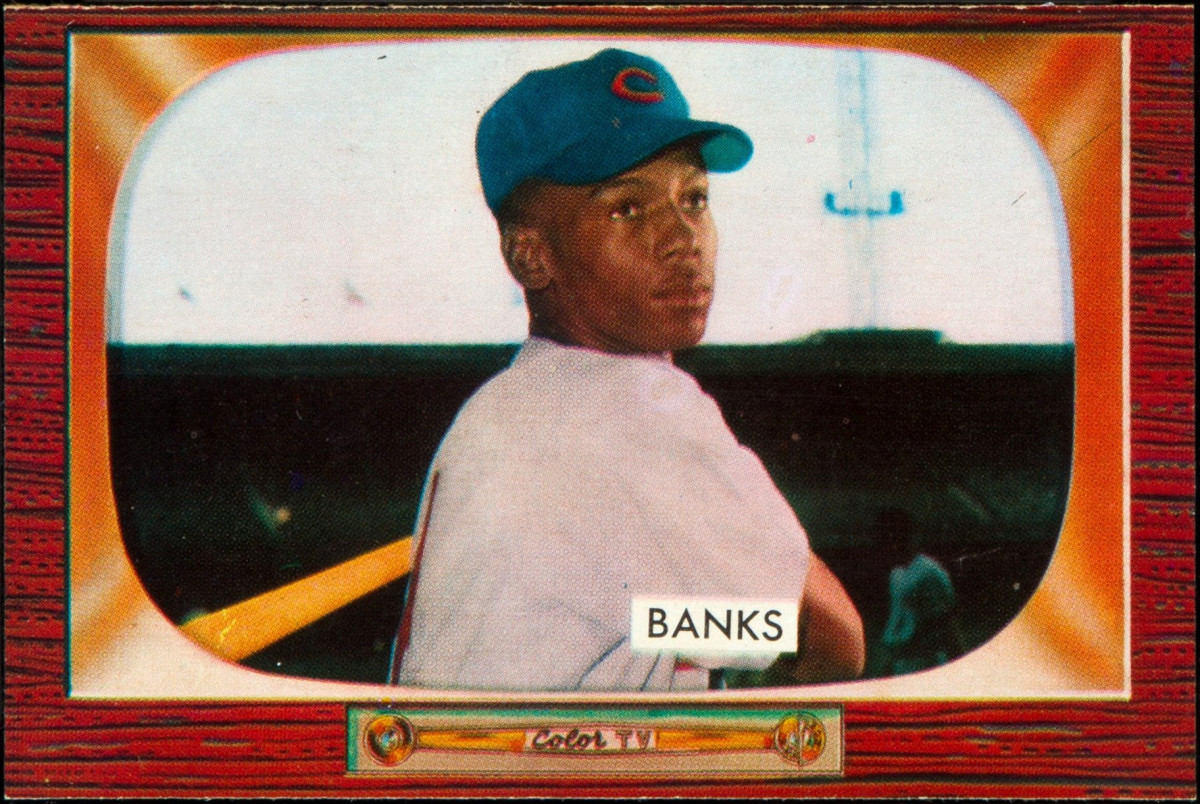 Ernie Banks provided a surprising amount of power from a shortstop .
