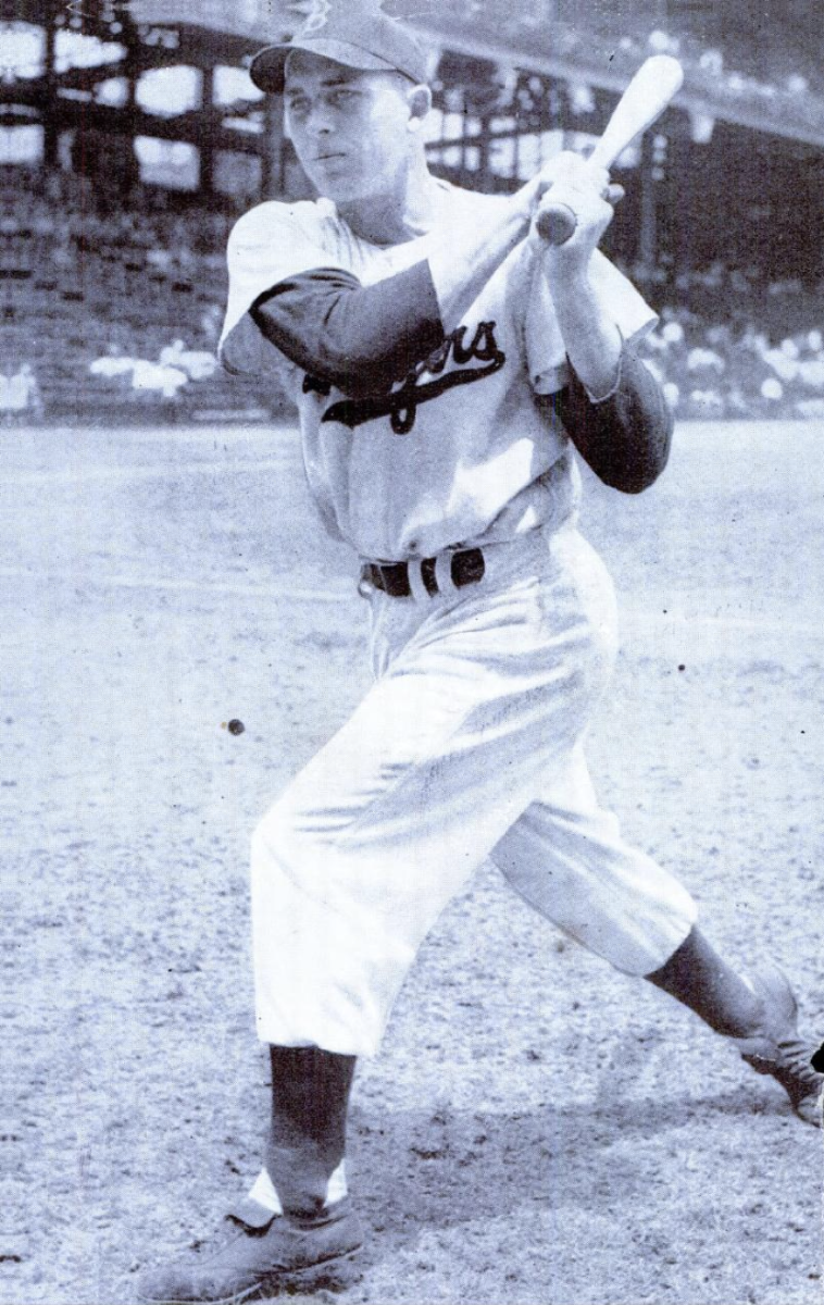 Dodgers infielder Gil Hodges teamed up with outfielder Duke Snider for more than 600 home runs during the 1950s.